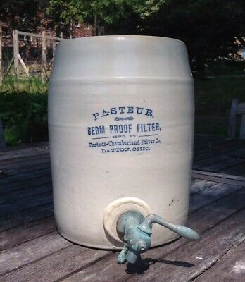 Louis Pasteur Chamberland Water Purifier Crock GERM PROOF FILTER Dayton OH