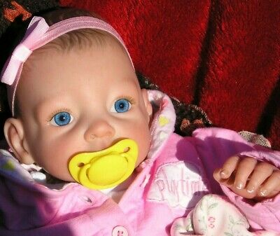 LOVELY Reborn baby doll.....WILLOW.....BLUE EYES ..