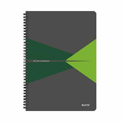 Leitz Green Office Notebook A4 ruled wirebound with polypropylene cover 44960055