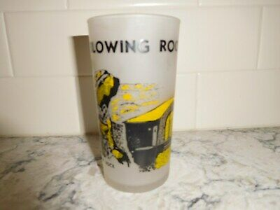 Vintage Travel Souvenir Blowing Rock North Carolina Frosted Glass Tumbler