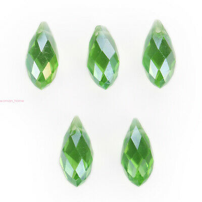20pcs Faceted 6x12mm Teardrop Crystal DIY Loose Spacer Beads Jewelry New Finding