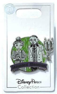 Disney Parks Haunted Mansion Pin Maid Butler 50th Anniversary New