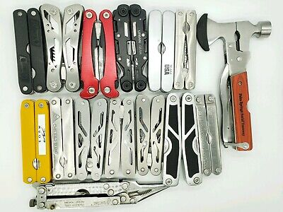 LOT Of 15 TSA Confiscated Multi Tools - Multi Function Knives - Some Sheathes