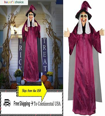 Halloween Haunted House Life Size Hanging Animated 71'' Talking Witch Prop Decor