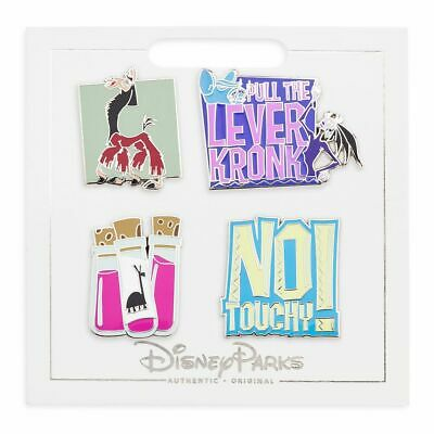 Disney Parks 2019 Emperors New Groove Pull The Lever Kronk 4 Pin Booster Set NEW