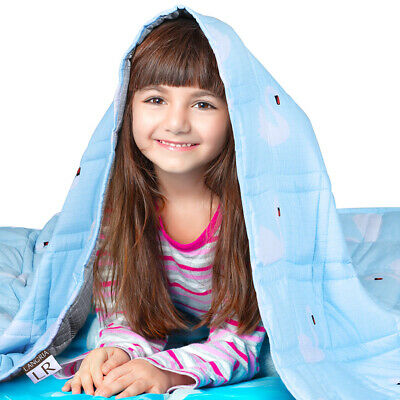 Weighted Blanket Made of Microfiber Fabric For Youths Kids Bedding Cover Warm US