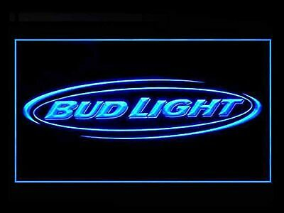 Bud Light Beer Bar Budweiser Led Light Sign Blue