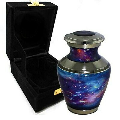Cosmic Galaxy Universe Cremation Urns for Adult Ashes for Funeral, Niche or C...