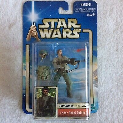 Star Wars Return of the Jedi Endor Rebel Soldier Figure '02 #33 New SEALED