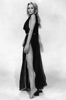 Ursula Andress sexy leggy pin-up in revealing black gown 24x36 Poster