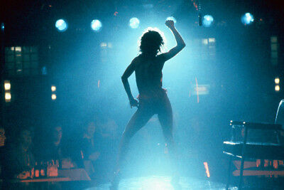 Jennifer Beals Iconic In Silhouette Dancing On Stage Flashdance Large Poster