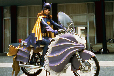 Batman Yvonne Craig As Batgirl Seated On Her Motorcycle In Costume Large Poster