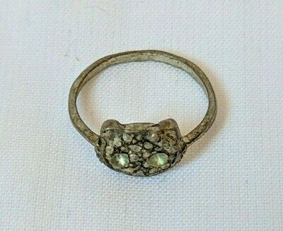 Ancient Ring Baby Size Metal Color Silver Old With Stuning Stones Extremely Rare