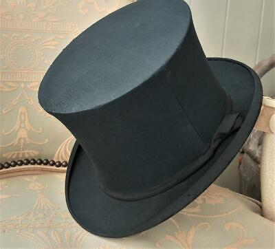 Antique Black Collapsible Opera Top Hat by Thomas Townsend London C 1900+