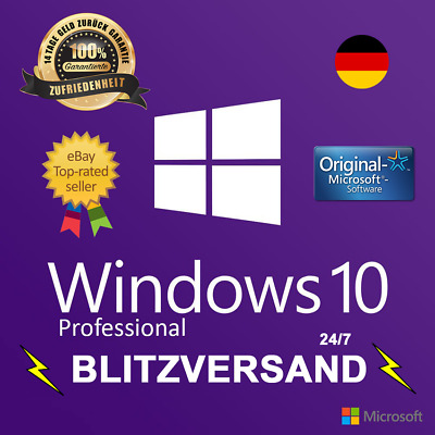 Microsoft Windows 10 Pro Professional 32 & 64 Bit Product Key Vollversion Win 1
