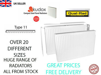 Compact Convector Radiator White Type 11 Single Panel Central Heating PLUMBING