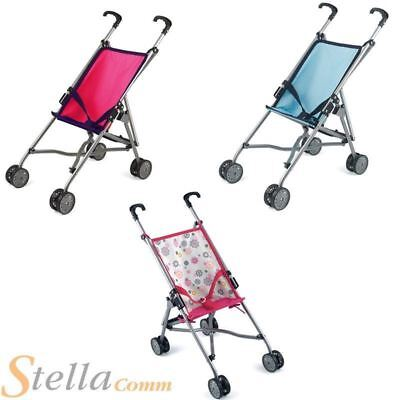 Dolls World Stroller Girls Foldable Toy Baby Pushchair Pram Buggy