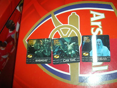Lord Of The Rings FOTR Action Flipz chase set AF1-3
