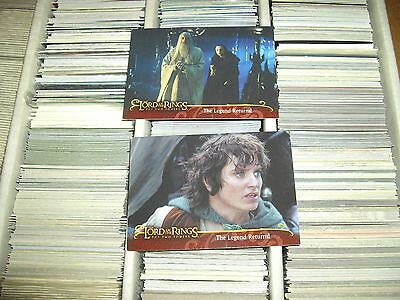 Topps Lord Of The Rings The Two Towers UK Exclusive promo cards L1,2