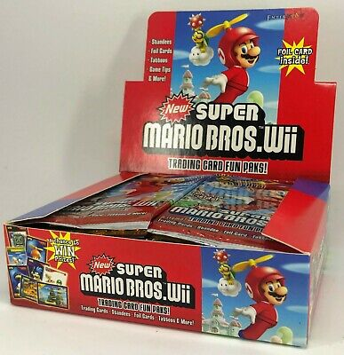 Super Mario Trading Card Packs  - 24-pack box (guaranteed at least 1 gold foil)