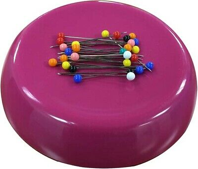 Raspberry - Grabbit Magnetic Pincushion W/50 Pins