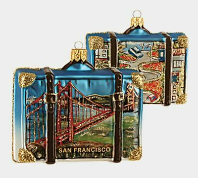 San Francisco California Travel Suitcase Christmas Ornament Decoration ONE Pc