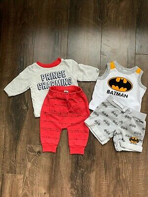 Old Navy & Batman Baby Boy Outfit Set Size 0-3 Months