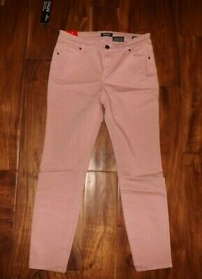 NWT Womens BUFFALO Pink Aubrey Mid Rise Super Soft Ankle Grazer Jeans 8 / 29