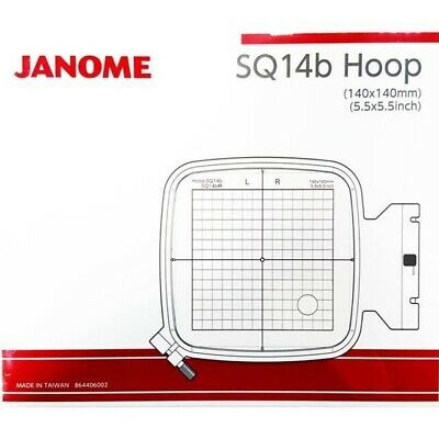 JANOME 400E, 500e Embroidery Extra Hoop Square SQ14b 140x140mm Genuine 864406002