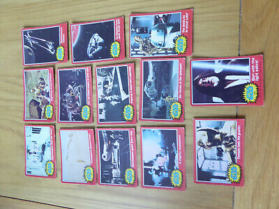 Star Wars trading cards - SPARES - 2nd SERIES - RED - x 13