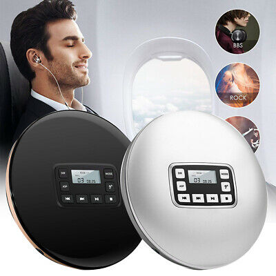 Round Headphone Jack Electric CD Player Compact Disc HIFI Music Stereo Portable