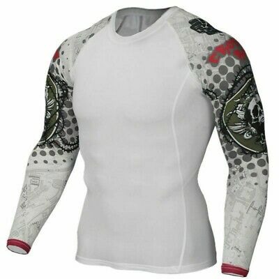 Long Sleeve Skin MMA Rash Guard Complete Graphic Compression Shirts Fitness Tops