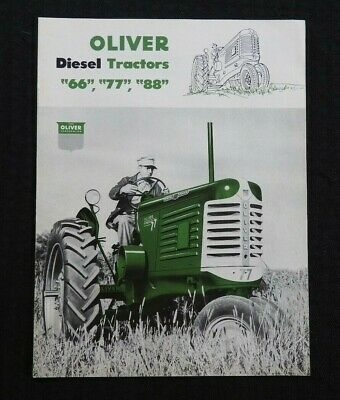 """1952 """"The Oliver 66 77 88 Diesel Tractor"""" Catalog Brochure Very Nice"""