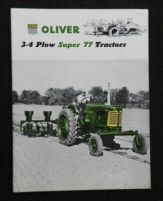 "1955 ""The Oliver 3-4 Plow Super 77 Tractor"" Catalog Brochure Very Nice"