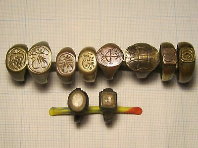 10 ancient rings of the 13-17 century. lot # K24