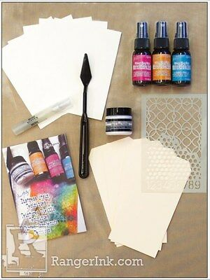 Ranger Tim Holtz Distress Mixed Media Spray Stain Kit with Texture Paste
