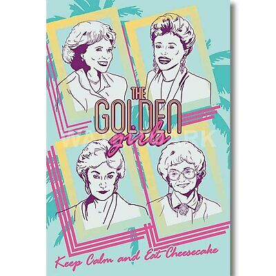 Custom Personalized The Golden Girls Silk Poster Wall Decor
