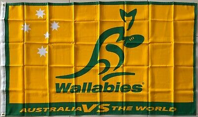 Wallabies Flag Large Official Licenced Rugby Australia Flag