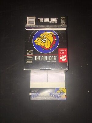 Authentic Bulldog Rizla Papers. Silver Slim Size 1.1/4 Box Of 24 Booklets