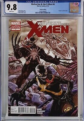 Wolverine & The X-Men #4 Cgc 9.8 Venom Variant Edition Super Rare