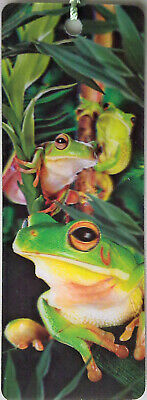 3D Bookmark - FROGS - Moving Image - Australian - Gift Adults Kids
