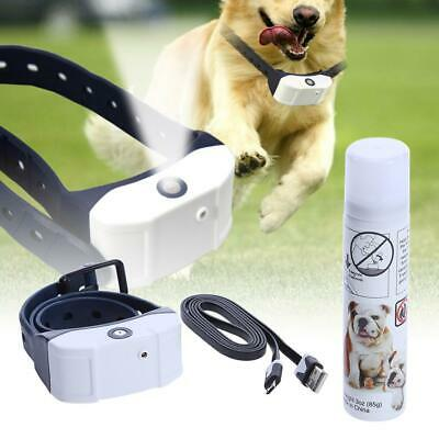 Stop Barking Rechargeable Citronella Dog Collar Anti Bark Train Mist Spray  P4PM