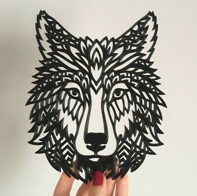 Wolf Head Wall Art 3D Hanging Modern Wall Decor Pick Your Colour