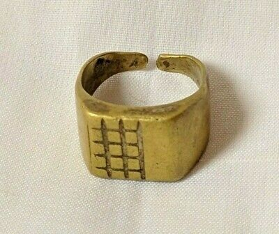 Ancient Antique Roaman Ring Bronze Artifact Old Stuning Legionary Extremely Rare