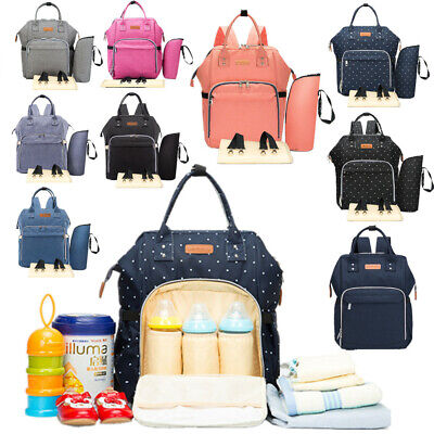 Multi-use Large Mummy Baby Bag Backpack Diaper Nappy Changing Travel Waterproof