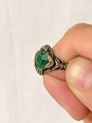 Ancient Ring Bronze Artifact Antique Roman Old Stuning Stone Extremely Rare