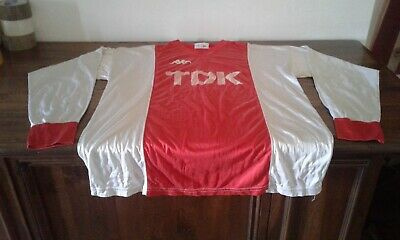 Maglia Shirt Vintage 1985  Kappa Ajax Amsterdam Size Large Home.  Tdk. No Patch