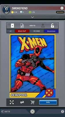 Topps Marvel Collect Deadpool Takeover Full Set Plus Award