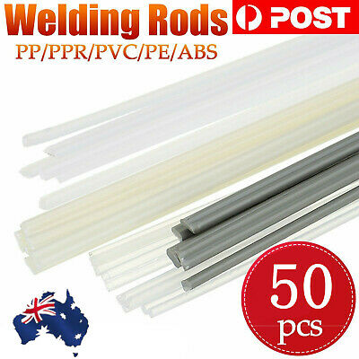 AUS 50pcs Plastic Welding Rods ABS/PP/PVC/PE Welding Sticks For Welder Tool Set