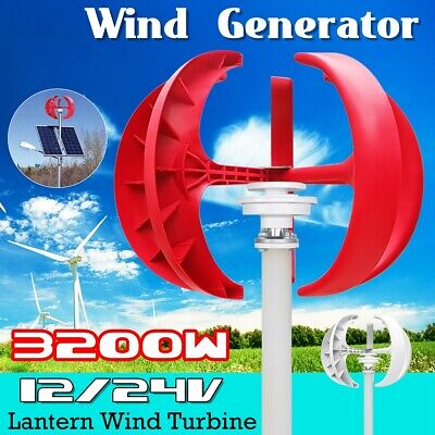 3200W 5 Blades Wind Turbines Generator Vertical Axis Lanterns Controller Kit